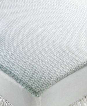 """Closeout! SensorGel 1.5"""" Gel Memory Foam Queen Mattress Topper, Breathable Foam with COOLcloth Cover, Only at Macy's -"""