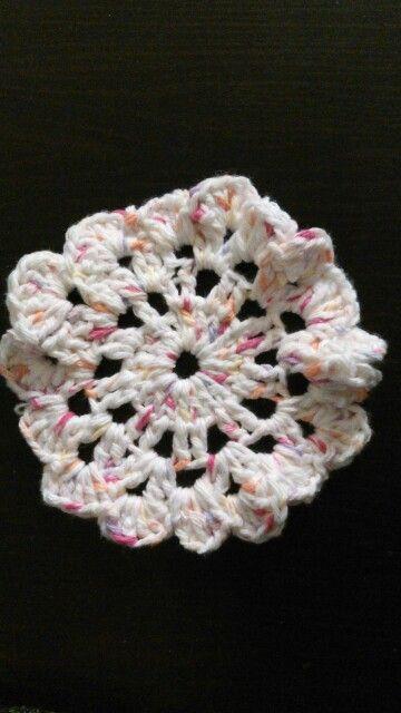 My first crochet coaster