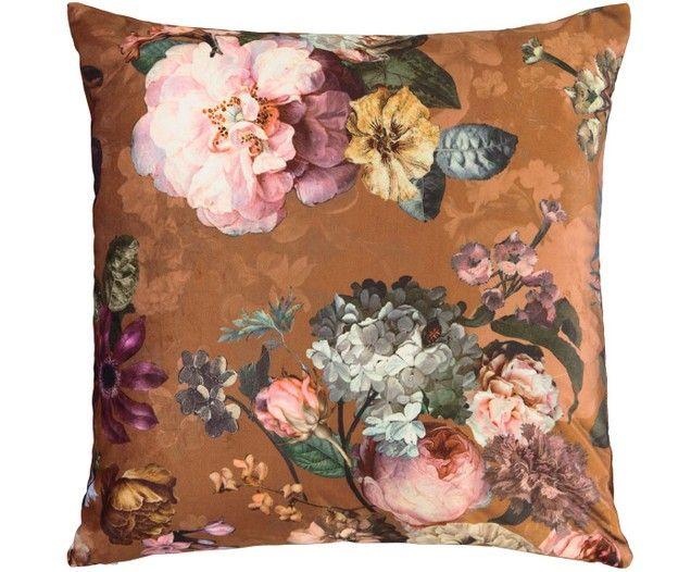 Samt Kissen Fleur Mit Blumenmuster Mit Inlett Decorative