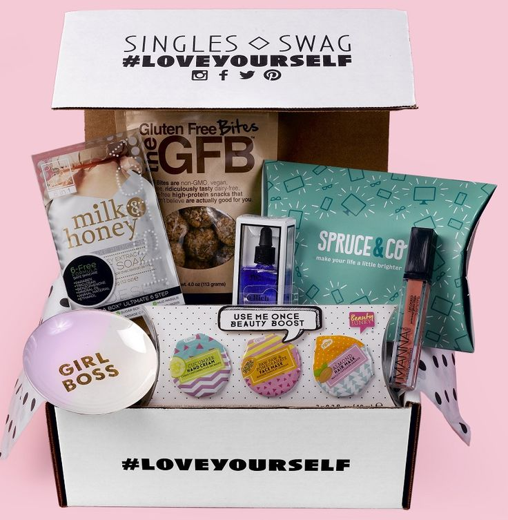 Save NEW! Singles Swag Box + 20% off code!Comes in Two Sizes  Choose between 5-7 or 3-4 full-sized products, hand-selected exclusively for fun and fabulous single women. Each month, you'll discover:  Organic bath and beauty products Fun, trending fashion accessories Delicious artisan-crafted foods Exciting surprises just for you. #organic #monthly #savings #code #beautybulletins #beauty #snacks #lifestyle NEW! Singles Swag Box + 20% off code!Comes in Two Sizes  Choose between 5-7 or 3-4…