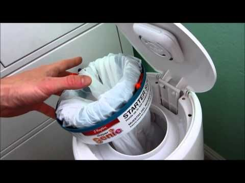 How to use a trash bag in a Diaper Genie... and save money - YouTube