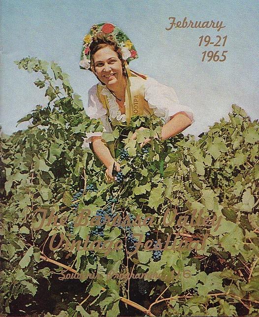 Barossa Vintage Festival program cover - 1965.