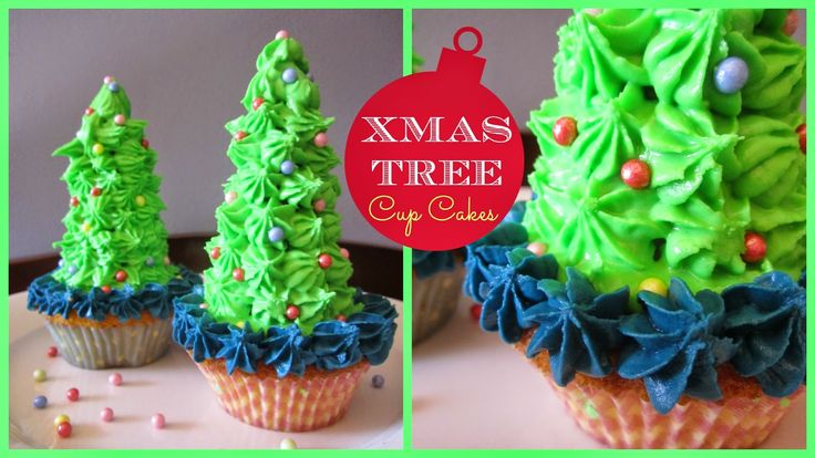 StyleNovice: Christmas ❄ Xmas Tree Cup Cakes