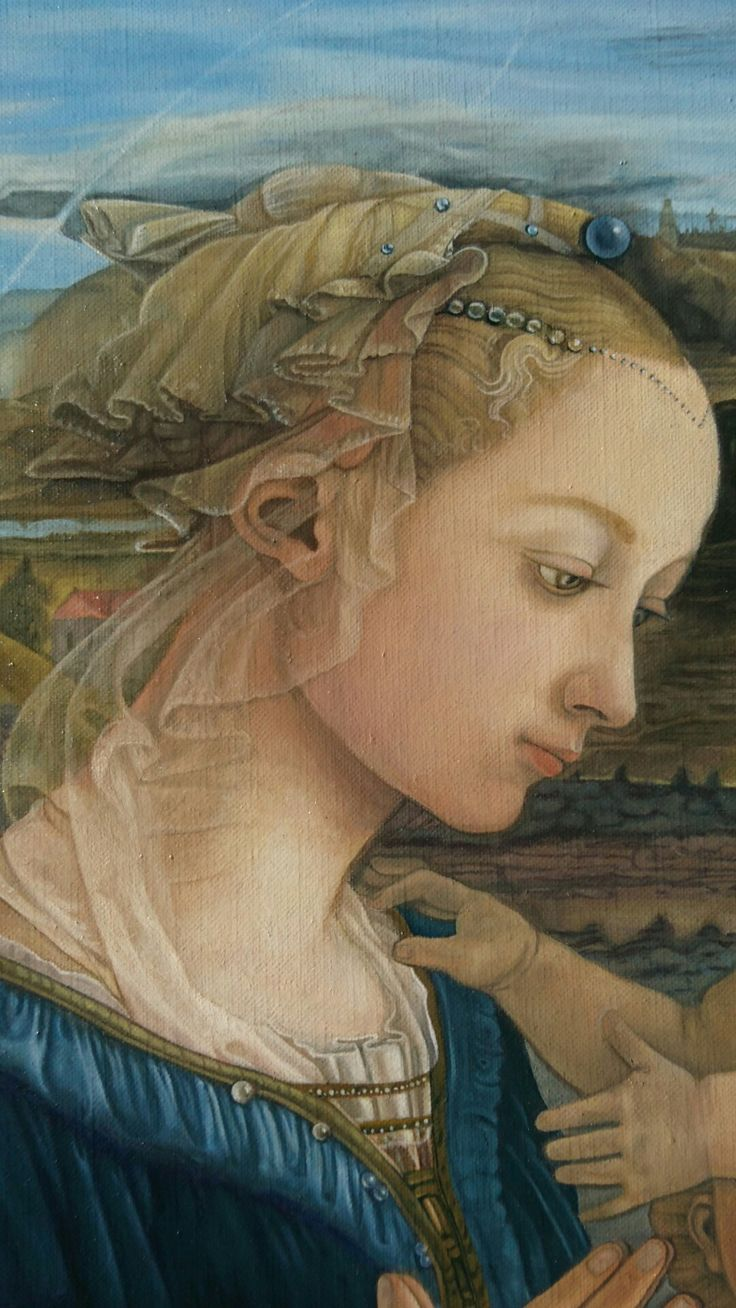 Fra Filippo Lippi replicate,oil on canvas,2016