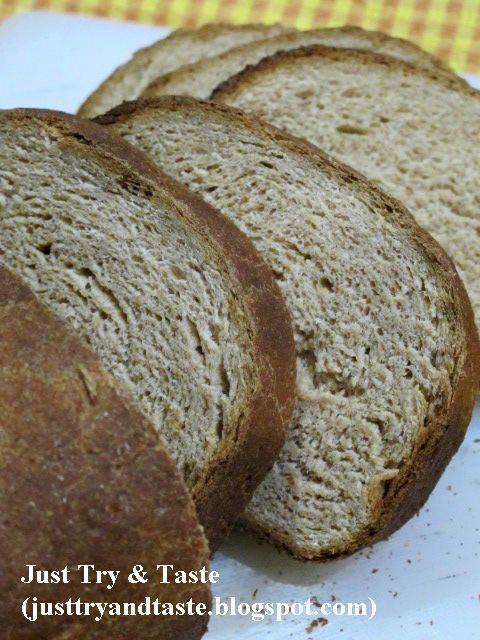 Membuat Roti Gandum Sendiri Di Rumah (100% tepung gandum utuh) | Just Try & Taste