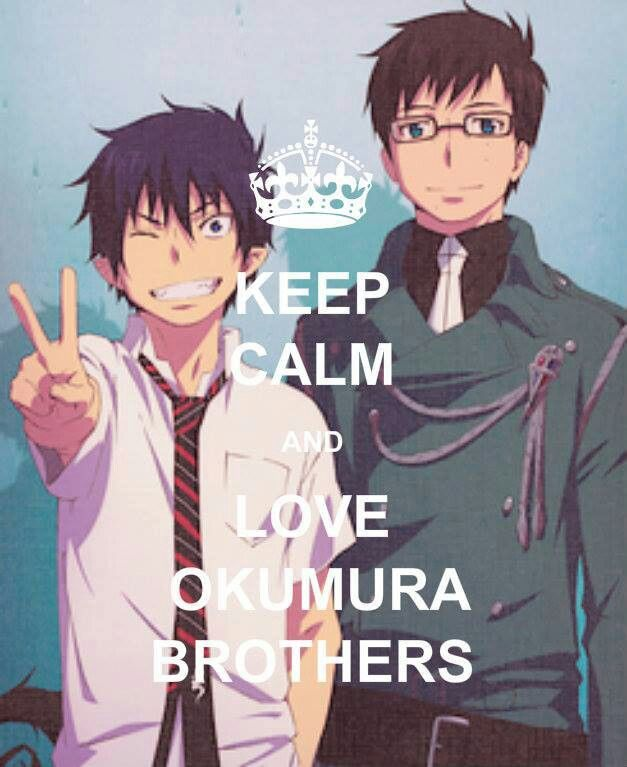 Okumura brothers from Blue Exorcist #anime #manga