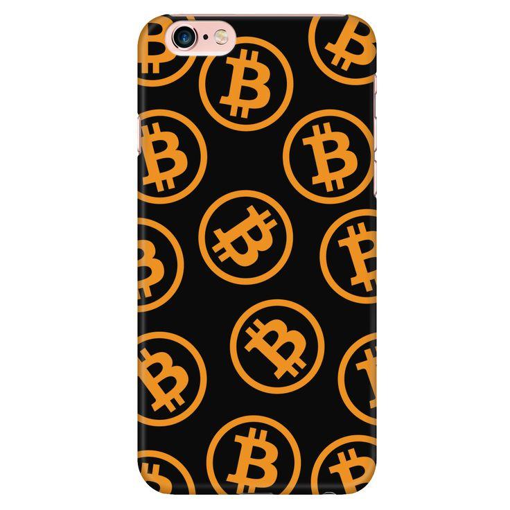 Bitcoin iPhone 6/6s case Orange and Black Logos