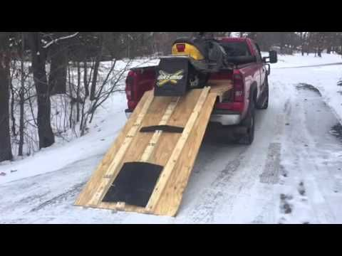 homemade snowmobile truck ramp - YouTube | board 1 | Truck ramps