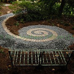 A secret garden, design borrowed from nature; a fern frond.