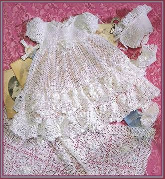 Just started this over the weekend for baby girl's blessing dress. Can't wait to see it on her. :)  Hurry up, time.