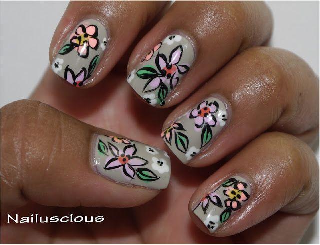 Nailuscious #nail #nails #nailart: Flowers Hands, Nailart Flowers