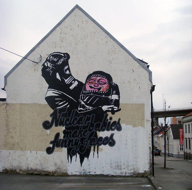 "POBEL _ ""Nuclear Babies"" _ Mural _"
