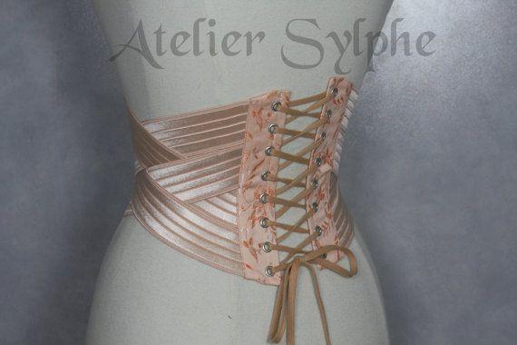 Taille Cincher Unterbrust Korsett in von AtelierSylphecorsets