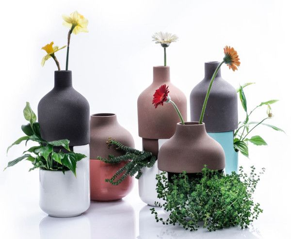 A Two-Part Vase for Both Leafy Plants and Tall Flowers