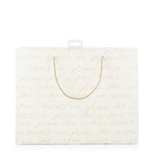 Script Print Gift Bag | Woolworths.co.za
