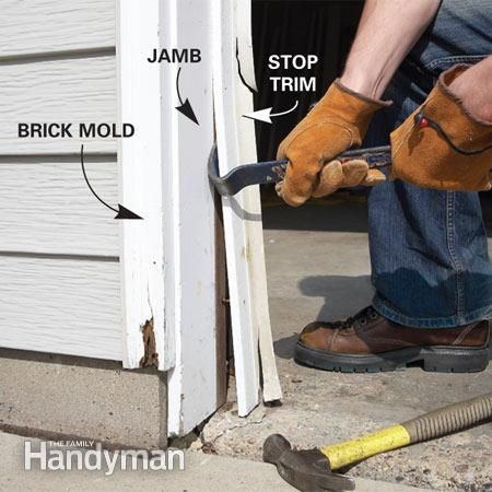 Fixing Garage Doors... replacing trim