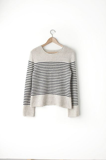 Ravelry: Breton pattern by Jared Flood via @Fringe Association post on First Sweater patterns post. I'd love to do this as a grey with yellow or orange stripes