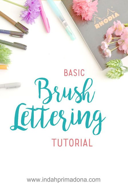 basic brush lettering tutorial
