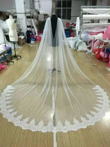 2017 White / Ivory Cathedral Bridal Cape Cloak