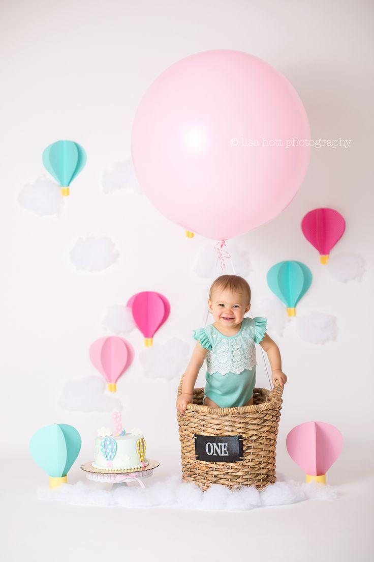 Hot Air Balloon Theme Cake Smash
