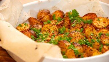 Kartofler i ovn med paprika og oregano