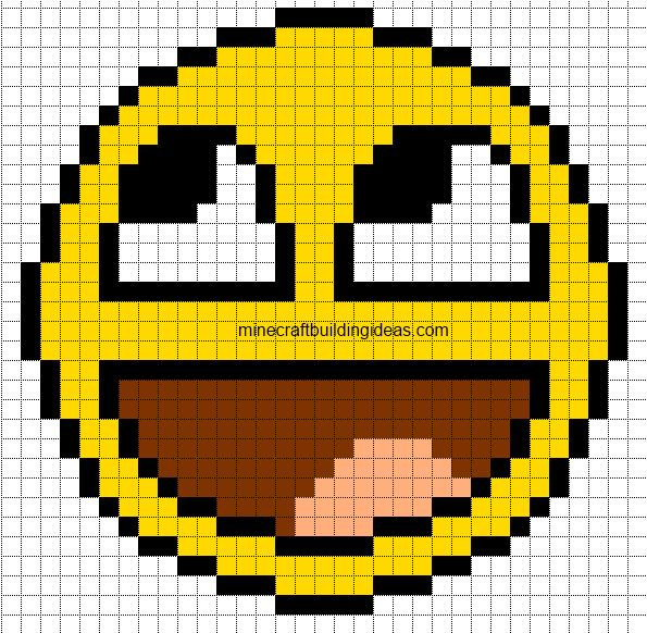 Minecraft Pixel Art Templates: Awesome Smiley