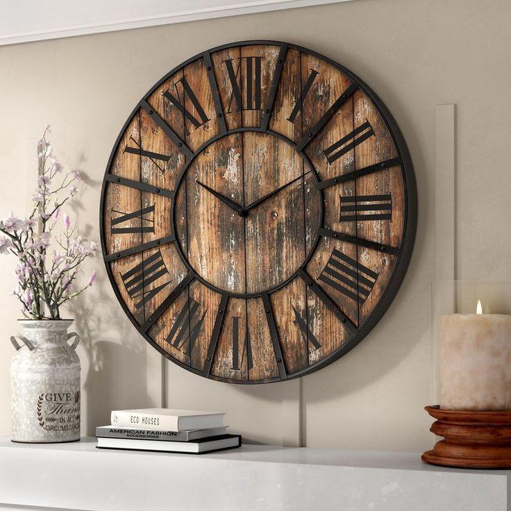 Beautiful Rustic Oversized Wooden Wall Clocks My Cozy Colorado Wooden Decor Clock Wall Decor Oversized Wall Clock