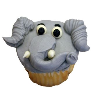 Elephant Face   Cupcakes   Deerfields Bakery