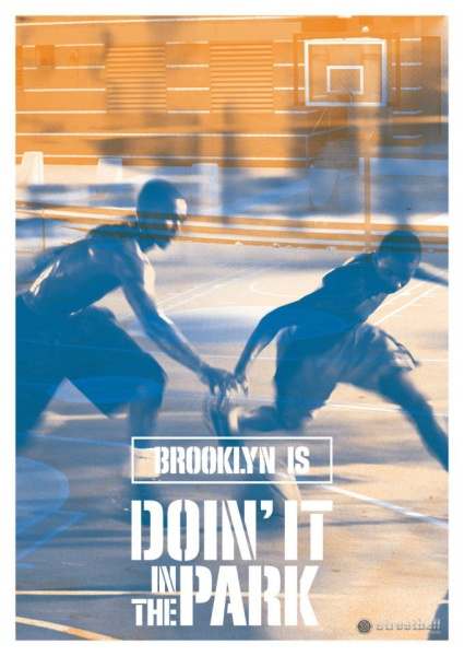 """BROOKLYN IS DOIN' IT IN THE PARK"" - Check out the streetball postcards Doin' It In The Park started distributing at some New York Knicks event. Six visuals representing the soul of New York's streetball. Keep following the Facebook Page http://www.facebook.com/doinitinthepark to grab a copy of each card and collect them all."