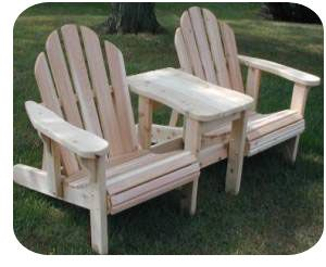 Double Adirondack Glider Plans - WoodWorking Projects & Plans