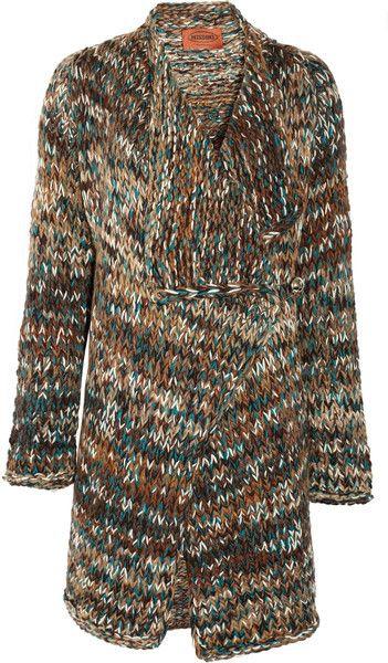 Gladiolo Chunky-knit Cardi-coat - Lyst
