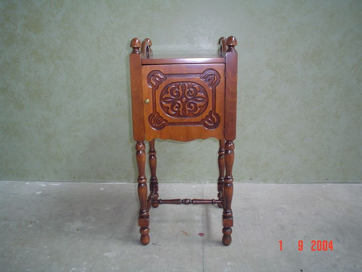 #small #corner #table #refinished by AM Furniture Finishing in 2004