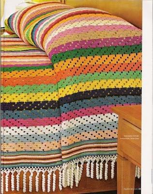 Colchas de Crochê: Facilit Sua, Artesanato Variado, Ems Linha, Craft Blackboard, Colcha 16, Quaver, Colorida Ems, Linha Ou, Colcha De