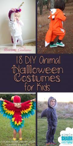 18 DIY Animal Halloween Costumes for Kids