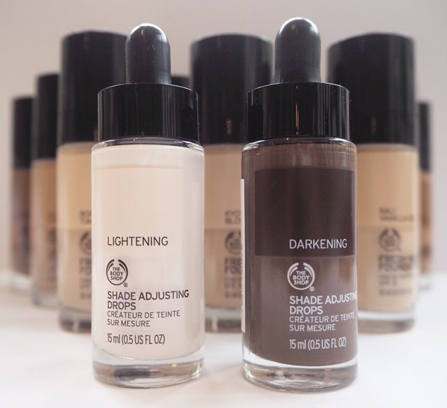 I know I don't have all the The Body Shop Fresh Nude Foundation here yet, but what I have is certainly a good enough selection to realise that it's fairly comprehensive, from the lightest to the darkest tones. The Body Shop Fresh Nude Foundation was trialled over LFW by make up artists, along with the Shade Adjusting…
