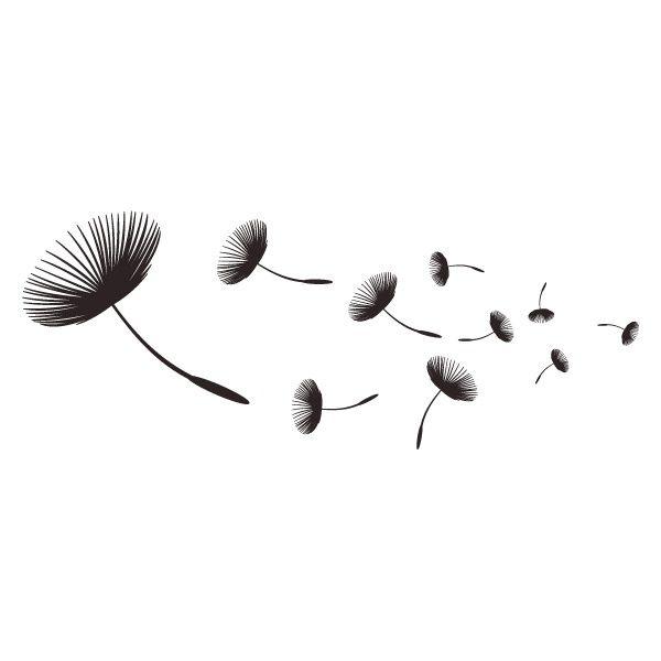 Pusteblume Zeichnung Schwarz Weiß Wandtattoo Sternenhimmel