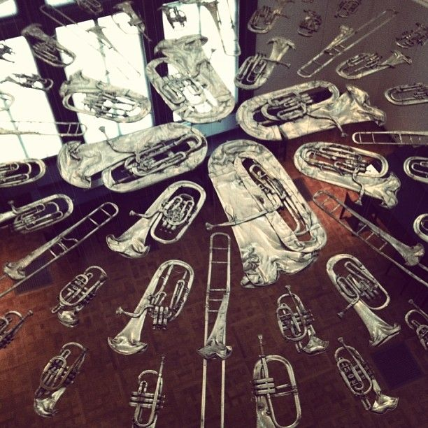 Cornelia Parker at the V&A Museum - Flattened silver instruments