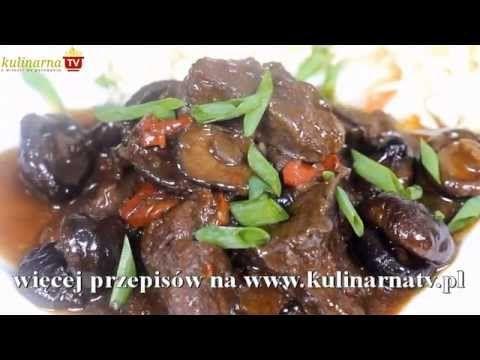 Wołowina z Imbirem i Grzybami Shitake - Chińskie Przepisy - Orientalny Serwis