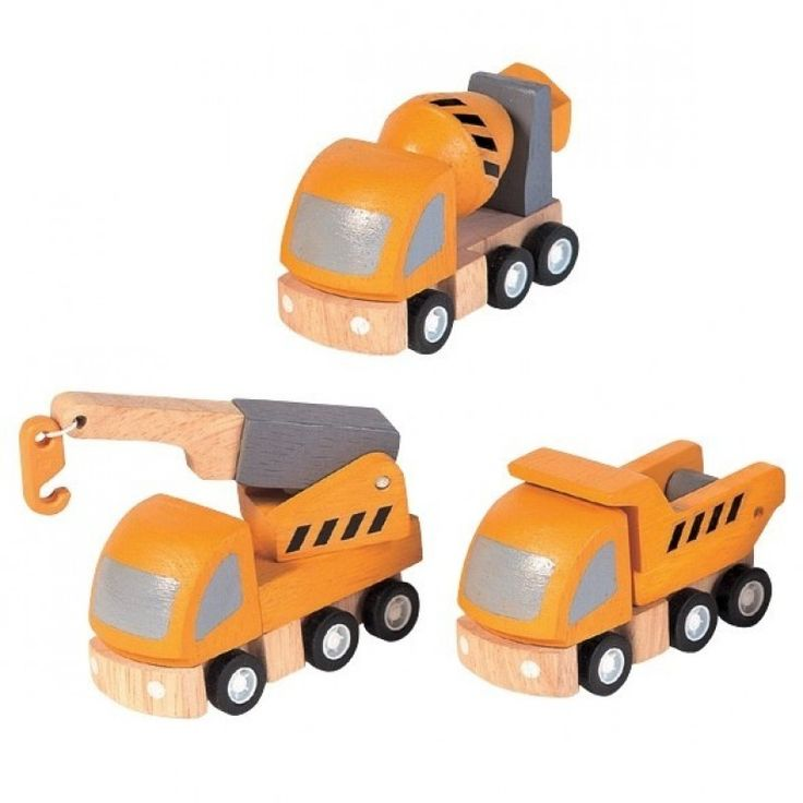 Ekologiska leksaksbilar, Highway Maintenance - PlanToys - Ekologiskt & Tryggt - GoodforKids