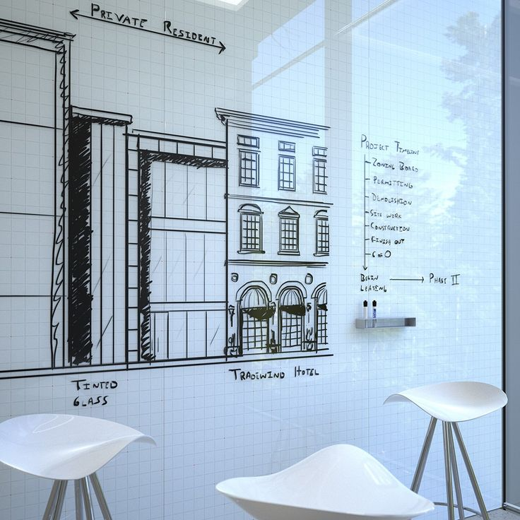 Glass Whiteboards (for impromptu collaboration, informal gatherings, open meeting spaces)