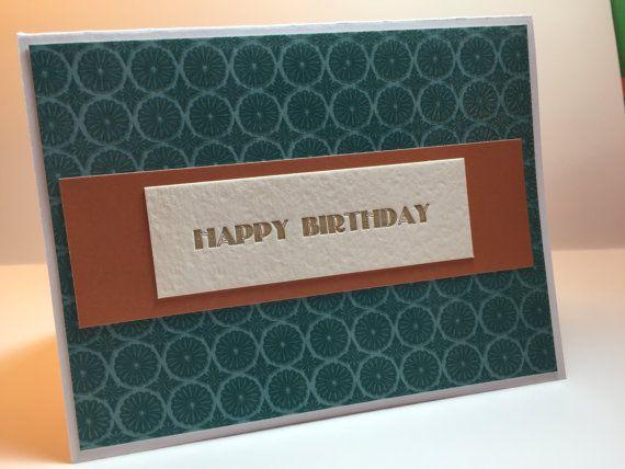 Handmade Card - I used a letterpress greeting. I adore letterpress!