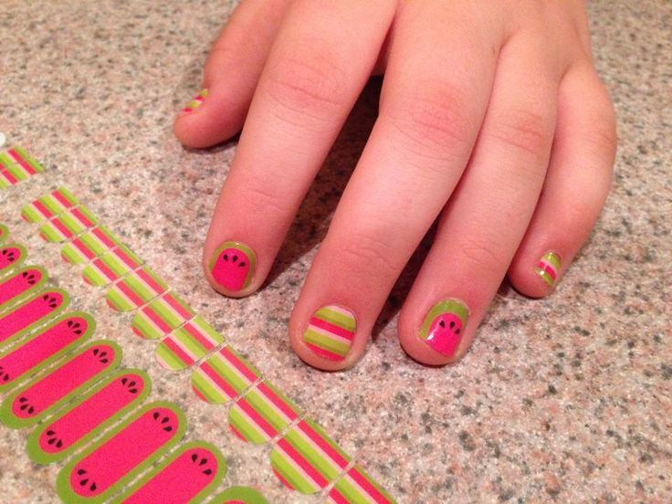 This Is A Retired Jamberry Juniors Design Shown On 12 Year Old Hands