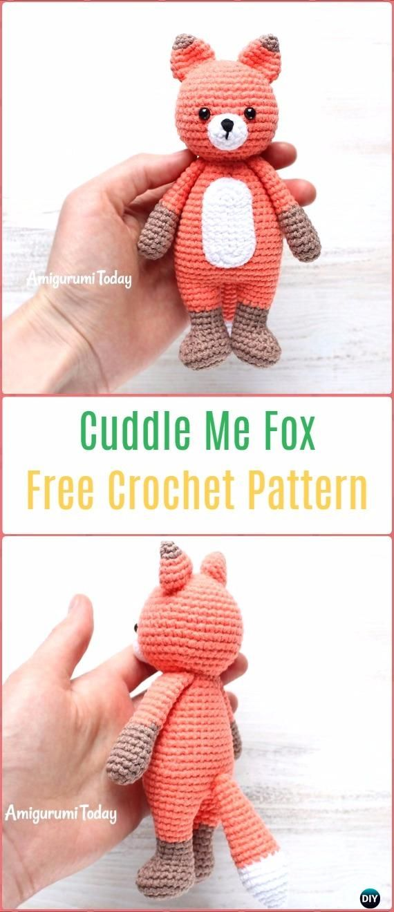 Amigurumi Crochet Cuddle Me Fox Free Pattern - Crochet Amigurumi Fox Free Patterns
