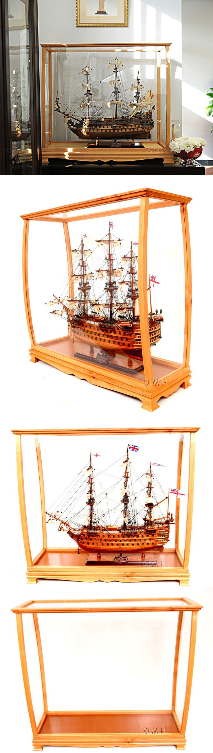 Display Cases and Stands 171135: Ship Model Display Case 36 Wood And Plexiglass Cabinet For Midsize Tall Ship -> BUY IT NOW ONLY: $489 on eBay!