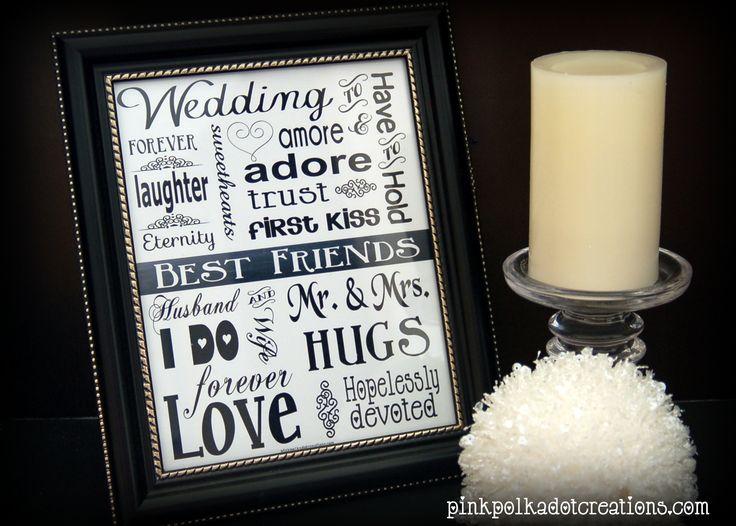Cute gift idea for weddings