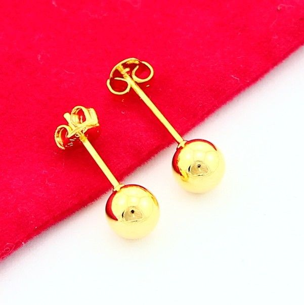 Thời Trang mới 24 K Mạ Vàng Bông Tai Vàng Vàng Bông Tai Vàng Phụ Nữ Món Quà Cưới Miễn Phí Vận Chuyển YHDE012