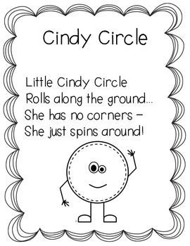 Here's a set of shape poems for circle, square, rectangle, triangle, star, heart, oval, and diamond.