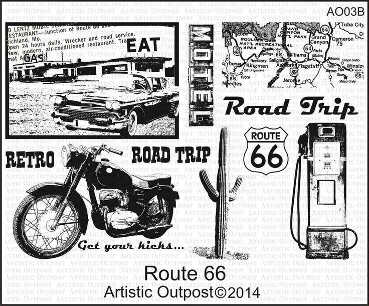 Route 66 on www.addictedtorubberstamps.com