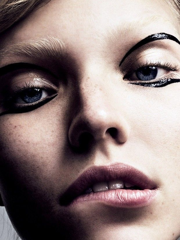 Sasha Luss for Vogue Japan by Marcus Ohlsson- Makeup by Fredrik Stambro.