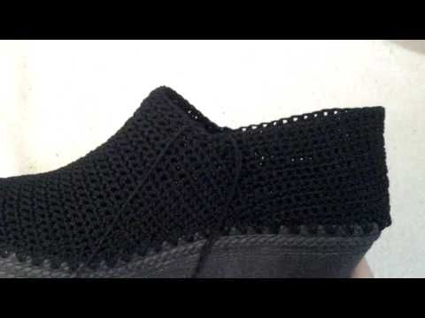 Tejido de zapato a crochet video 4 por Myriam Mora - YouTube